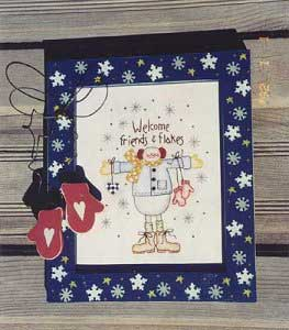 Welcome friends & flakes stitchery