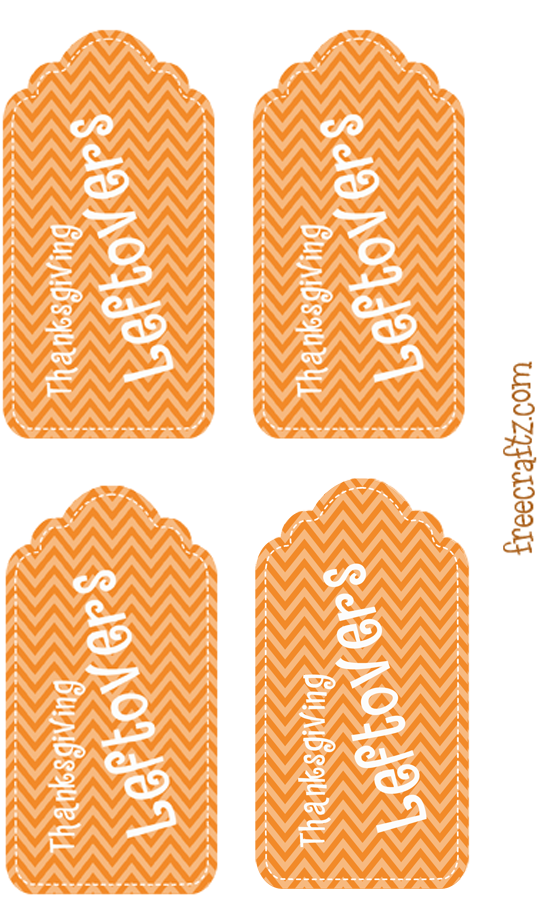 Thanksgiving Leftovers Hang Tags