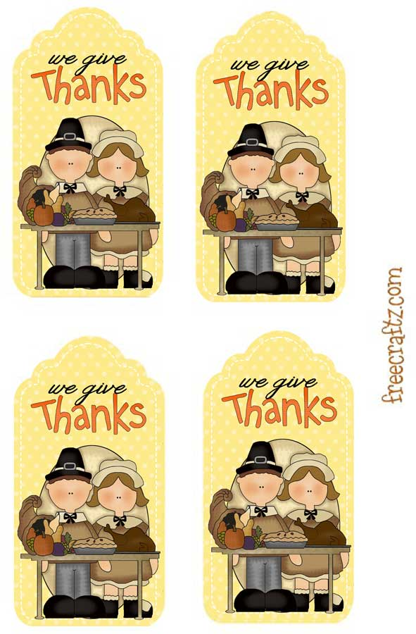 We Give Thanks - Thanksgiving Hang Tags
