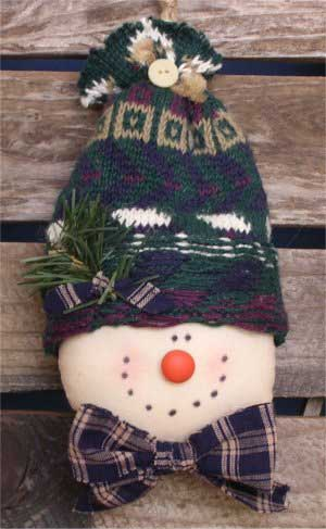Free Christmas Crafts Sewing Pattern For Snowman