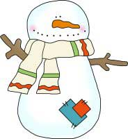 Snowman Scarf and Patches