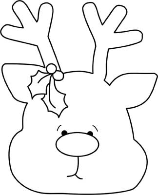 Reindeer ornament pattern wood template for christmas for Reindeer cut out template