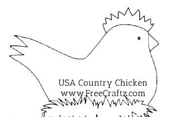 USA Country Chicken Pattern