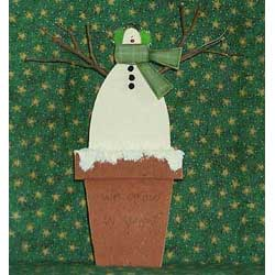 We Grow in Snow - Free Snowman craft pattern