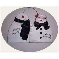 Snow Couple free snowman craft pattern